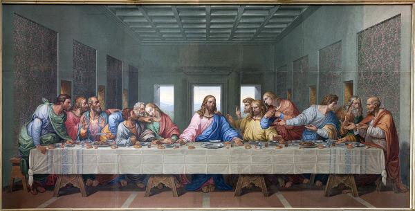 Reprodução da Última Ceia realizada por Jesus Cristo com seus discípulos.*