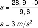 O resultado encontrado indica que a velocidade da chita muda em 3 m/s a cada segundo.