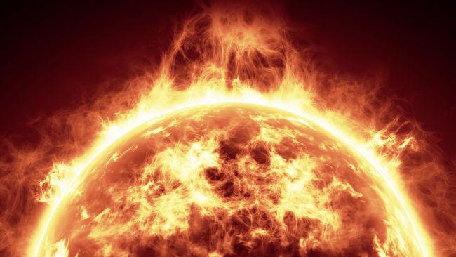 O vento solar é um plasma composto por partículas carregadas de alta energia.
