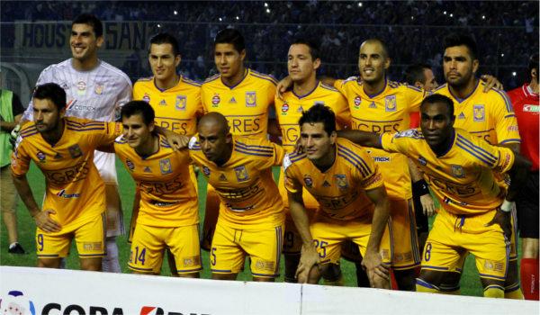 Time do Tigres (México) na disputa da Libertadores em 2015. (Crédito: César Muñoz/Agência ANDES)