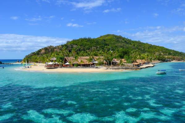 Ilha Náufrago localizada em Mamanucas em Fiji.