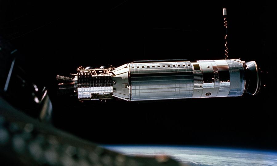 O primeiro acoplamento de espaçonaves da história teve a participação de Neil Armstrong. (Créditos da imagem: Nasa / Reprodução)