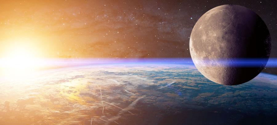 A lua afasta-se da Terra a 3,78 cm por ano.