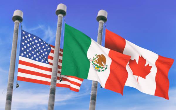 Estados Unidos, México e Canadá são os países que compõem a América do Norte.
