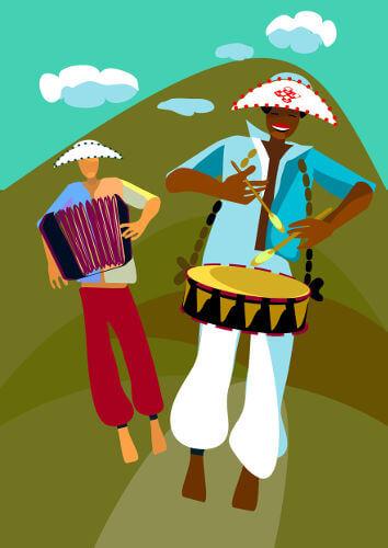 O baião é uma das manifestações mais conhecidas da cultura popular brasileira na música.