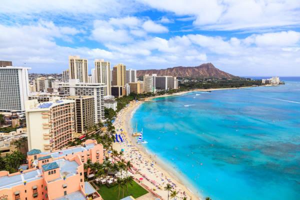 Honolulu é a cidade havaiana conhecida pelas suas belas praias.