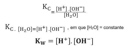 Constante de ionização da água (Kw)