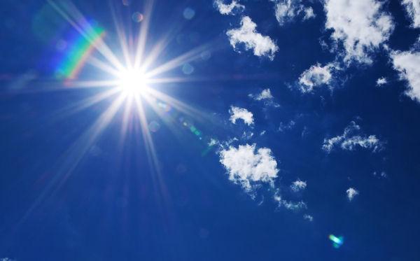 O Sol irradia uma grande quantidade de energia para a Terra.