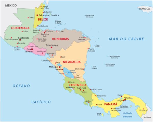 América Central une os subcontinentes América do Norte e América do Sul.