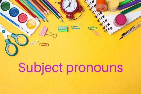 Em inglês, os pronomes pessoais podem ser sujeitos ou objetos.