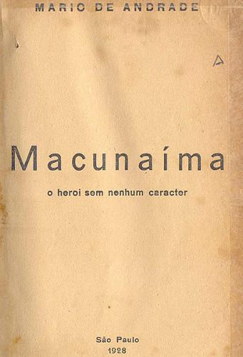 Capa da primeira edição de Macunaíma, 1928.