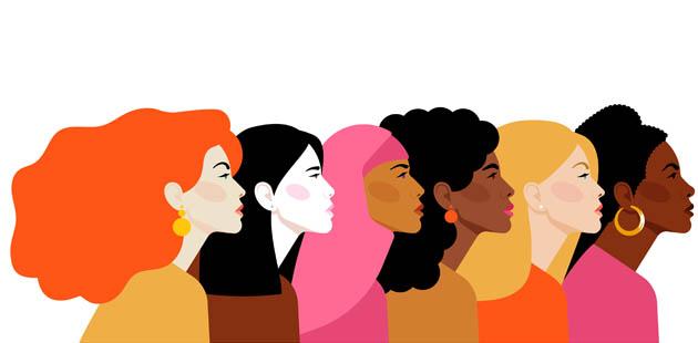 Desenho de mulheres diversas