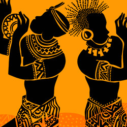 Ilustração de africanos dançando