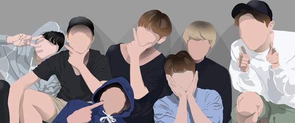 Desenho do BTS