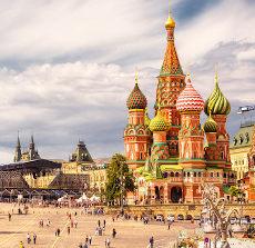Praça principal de Moscou, capital da Rússia