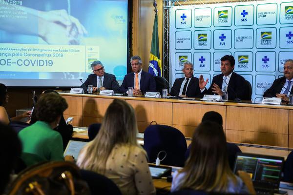 Anúncio do 1º caso de coronavírus no Brasil - Crédito da Foto: José Cruz/Agência Brasil