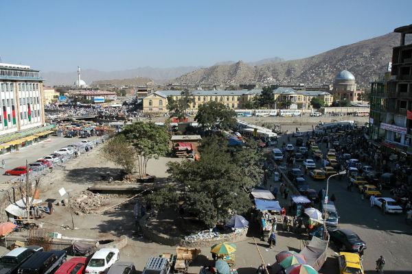 Vista de Cabul, capital do Afeganistão